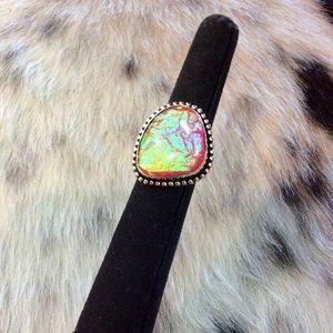 Jewelry - Pink Australian Triplet Opal Ring
